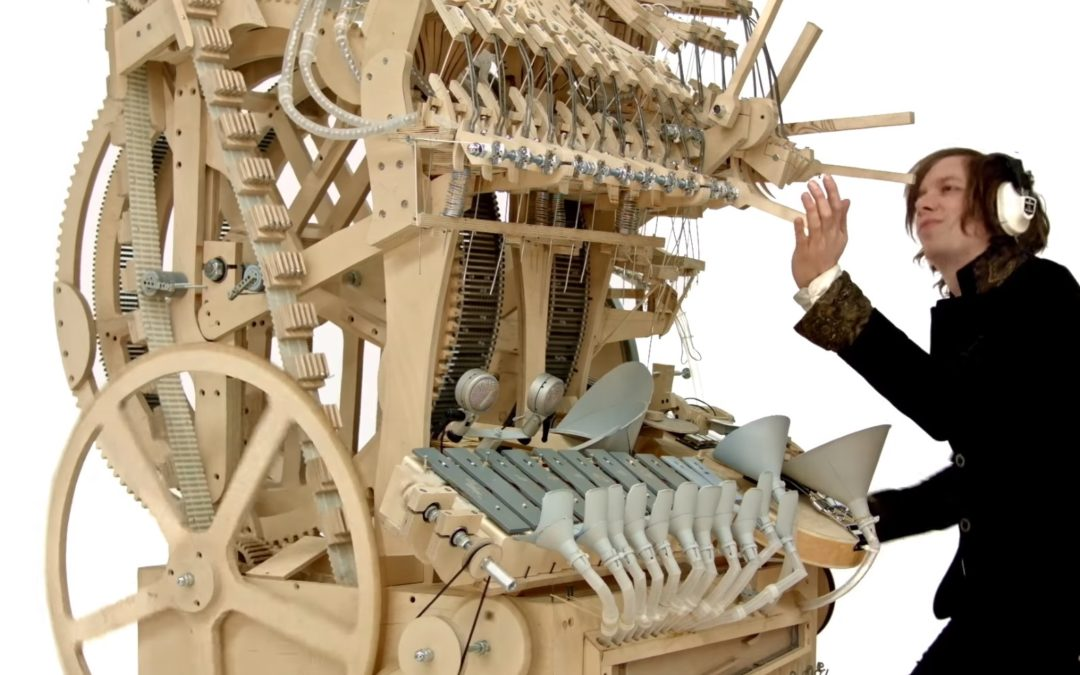Mad Musical Genius Builds New Instrument Using 2,000 Marbles