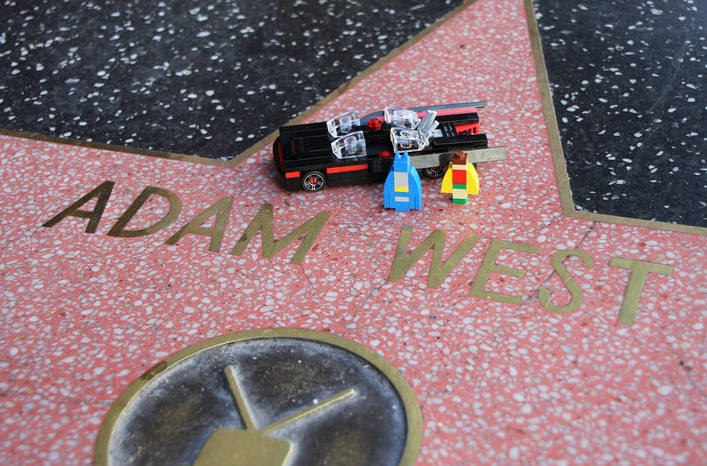 Adam West Star on the Walk of Fame with LEGO