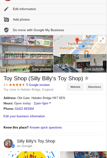Silly Billy's Toy Shop Reviews